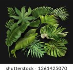 vector banner with green... | Shutterstock .eps vector #1261425070