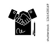 contract black vector concept... | Shutterstock .eps vector #1261428169