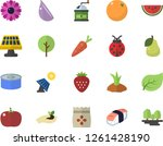 color flat icon set coffee... | Shutterstock .eps vector #1261428190