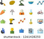 color flat icon set drill... | Shutterstock .eps vector #1261428253