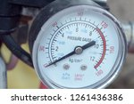 Pressure gauge close up