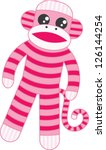 Super Cute Pink Sock Monkey...