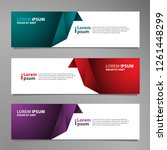 vector abstract banner design... | Shutterstock .eps vector #1261448299