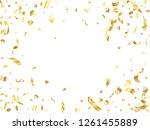 gold on white foil holiday... | Shutterstock .eps vector #1261455889