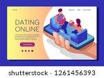 web page design template online ... | Shutterstock .eps vector #1261456393