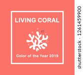 living coral color of the year...   Shutterstock .eps vector #1261459900