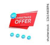 christmas offer label   Shutterstock .eps vector #1261460896