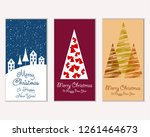 merry christmas and happy new... | Shutterstock .eps vector #1261464673