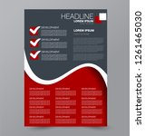 flyer template. design for a... | Shutterstock .eps vector #1261465030