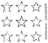 set of stars with calligraphic... | Shutterstock .eps vector #1261465699