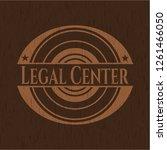 legal center vintage wood emblem   Shutterstock .eps vector #1261466050