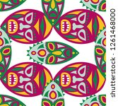 seamless background. african... | Shutterstock .eps vector #1261468000
