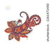 paisley isolated pattern.... | Shutterstock .eps vector #1261471450