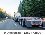 big rig long haul powerful semi ... | Shutterstock . vector #1261472809