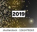 2019 new year confetti... | Shutterstock .eps vector #1261478263