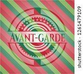 avant garde christmas emblem...   Shutterstock .eps vector #1261479109