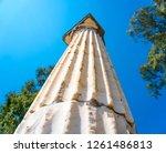 roman column in butrint  albania | Shutterstock . vector #1261486813