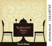 restaurant menu design. vector... | Shutterstock .eps vector #126148769