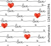 pattern for valentine's day... | Shutterstock .eps vector #1261501396