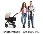 full length portrait of a young ... | Shutterstock . vector #1261502443