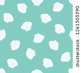 shell background. seamless... | Shutterstock .eps vector #1261505590