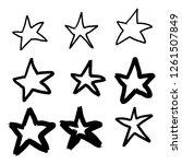 set of black hand drawn vector... | Shutterstock .eps vector #1261507849
