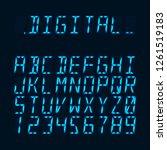 digital luminous 16 segmented... | Shutterstock .eps vector #1261519183