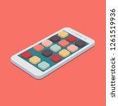 vector flat smartphone with app ...