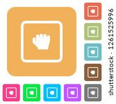 grab object flat icons on... | Shutterstock .eps vector #1261525996