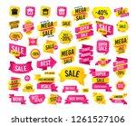sale banner. super mega... | Shutterstock .eps vector #1261527106