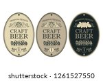 collection of beer labels in... | Shutterstock .eps vector #1261527550