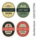 collection of beer labels in... | Shutterstock .eps vector #1261527556
