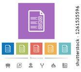 questionnaire document flat...   Shutterstock .eps vector #1261535596