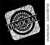 democrat written with... | Shutterstock .eps vector #1261538716