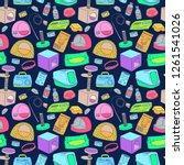 pet shop pattern. cat care... | Shutterstock .eps vector #1261541026