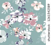 seamless floral pattern.... | Shutterstock .eps vector #1261542589