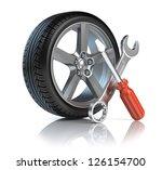 wheel repair | Shutterstock . vector #126154700