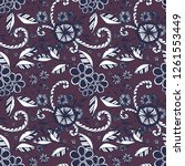 seamless pattern with small... | Shutterstock .eps vector #1261553449