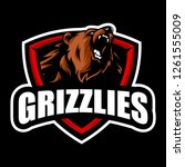 grizzly mascot vector | Shutterstock .eps vector #1261555009