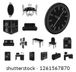 furniture and interior black... | Shutterstock .eps vector #1261567870