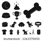 pet dog black icons in set... | Shutterstock .eps vector #1261570453