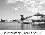 summer villa of george town ... | Shutterstock . vector #1261572133