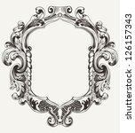 vintage high ornate original... | Shutterstock .eps vector #126157343