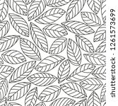 vector seamless leaves pattern. ... | Shutterstock .eps vector #1261573699