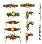 christmas elements for your... | Shutterstock .eps vector #1261582630