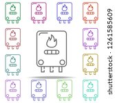 central heating  gas boiler... | Shutterstock . vector #1261585609