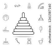 pyramid line icon. toys icons... | Shutterstock . vector #1261587160