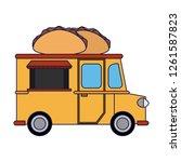 food truck restaurant   Shutterstock .eps vector #1261587823