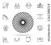 vortex icon. physics icons... | Shutterstock . vector #1261588219