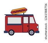 food truck restaurant   Shutterstock .eps vector #1261588756